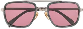 David Beckham Eyewear Marbled Square-Frame Sunglasses