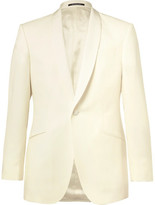 Richard James Ivory Slim-fit Grosgrain-trimmed Wool Tuxedo Jacket - Ivory