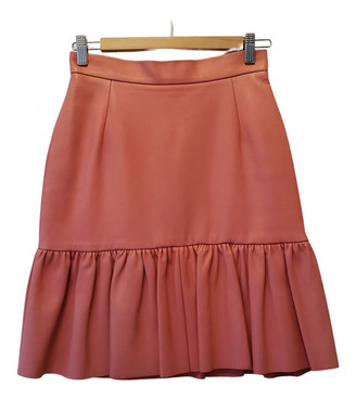 Mother of Pearl Pink Leather Skirts