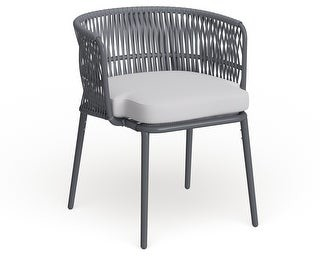 Safavieh Outdoor Living Kiyan Rope Chair - Grey