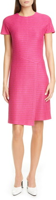 St. John Poppy Novelty Textured Knit Dress