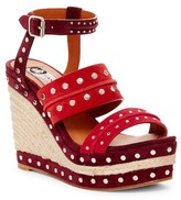 Lanvin Shia Studded Platform Wedge Sandal