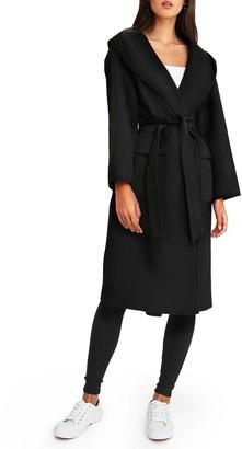 Belle & Bloom Runaway Wool Blend Robe Coat