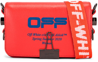 Off-White Off White Mini Flap Bag in Coral Red | FWRD