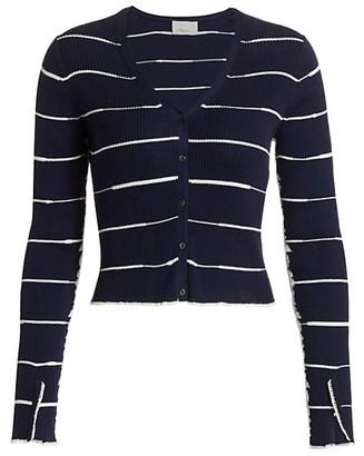3.1 Phillip Lim Cropped Wool Blend Cardigan