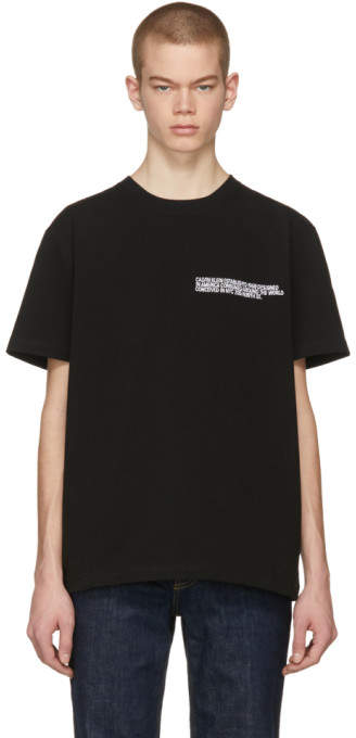 Calvin Klein Black Text Logo T-Shirt