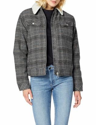 Lee Women's Wool Check Sherpa Jk Jacket