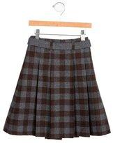 Jacadi Girls' Wool Pleated Skirt