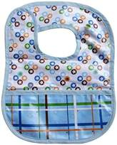 Caden Lane Boutique Collection Coated Bib, Blue Star Dot by
