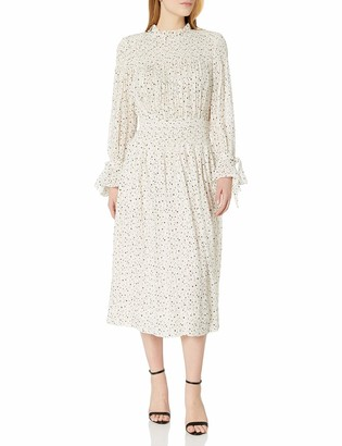 Rebecca Taylor Women's Long Sleeve Star Smock Dress