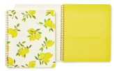Kate Spade Lemon Spiral Notebook - Yellow