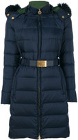Tory Burch Petra padded parka - women - Feather Down/Fox Fur/Leather/Polyester - XL