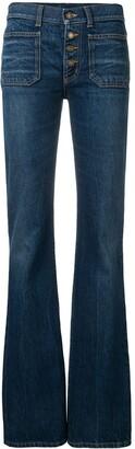 Saint Laurent Mid-Rised Bootcut Jeans