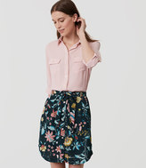 LOFT Vine Tie Waist Button Skirt