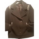 Comptoir des Cotonniers Anthracite Wool Coat for Women