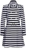 Yumi Stripe Trench Coat