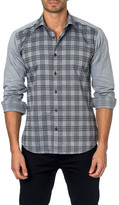 Jared Lang Long Sleeve Contrast Print Semi-Fitted Shirt