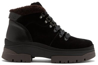 See by Chloe Crosta Suede And Leather Hiking Boots - Black