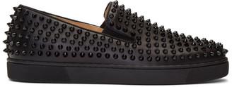 Christian Louboutin Black Roller Boat Sneakers