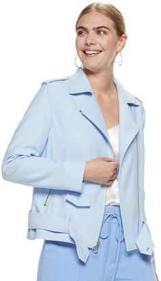 Nine West Women's Crepe Moto Jacket