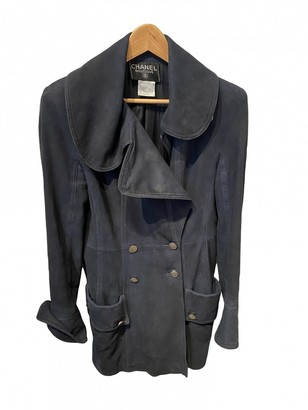 Chanel Navy Leather Jackets