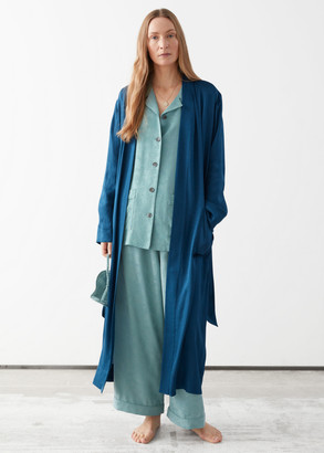 And other stories Relaxed Belted Jacquard Robe
