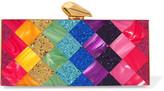 Kotur Levin Glittered Perspex Box Clutch - Pink