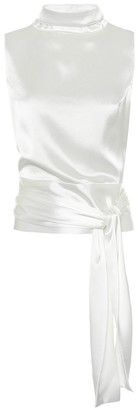 Galvan Marguerite satin bridal top