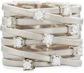 Marco Bicego Goa 18k White Gold Diamond 9-Row Ring