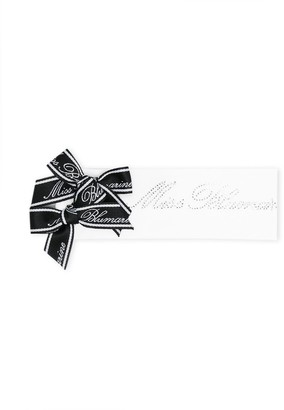 Miss Blumarine Bow-Embellished Headband