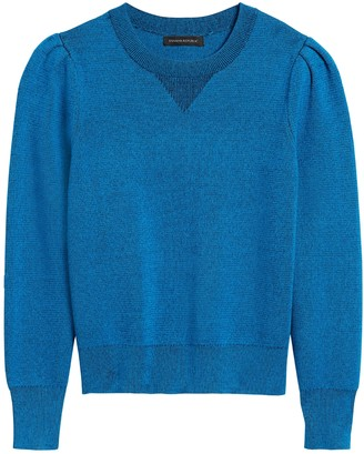 Banana Republic Petite Puff-Sleeve Sweater Top