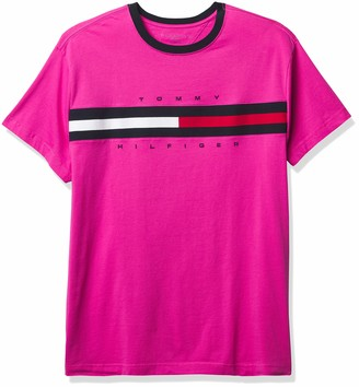 Tommy Hilfiger Men's Big and Tall Short Sleeve Logo T-Shirt