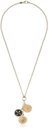 Foundrae 18k gold Strength and Karma necklace with diamond