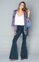 MUMU Freedom Fringe Kimono ~ Velvet Purple Frost