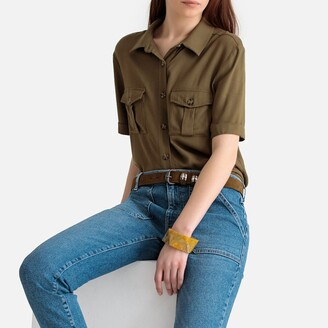 La Redoute Collections Utility Safari Blouse with Pockets