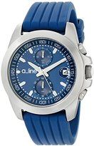 A Line a_line Women's 80010-03-BU Aroha Chronograph Dark Blue Dial Dark Blue Silicone Watch