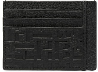 HUGO BOSS Pebbled-Effect Leather Cardholder