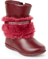 Pampili Toddler/Kids Girls) Cherry Faux Fur Cuff Boots