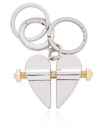 Prada Silver-Tone Keychain