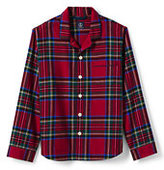 Classic Men's Fit Flannel Pajama Shirt-Rich Red Solstice Plaid