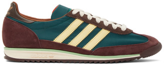 Wales Bonner Green and Burgundy adidas Originals SL72 Sneakers