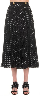 Prada Polka Dot Pleated Skirt