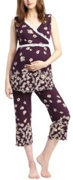 Loren Kimi & Kai Maternity Nursing Pajama Set