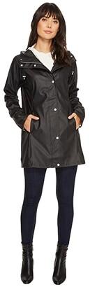 Ilse Jacobsen Lightweight True Rain Slicker (Black) Women's Coat