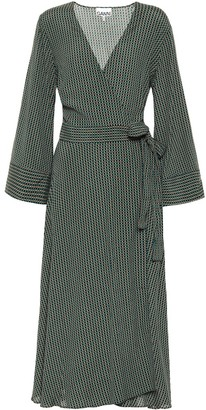 Ganni Checked wrap dress