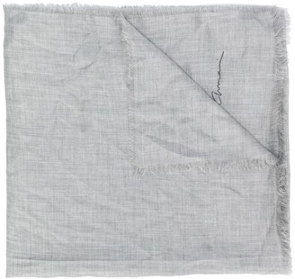Giorgio Armani frayed scarf