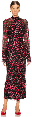 Saloni Alek B Dress in Hearts | FWRD