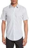 BOSS Men's Robbie Sharp Fit Micro Circle Sport Shirt