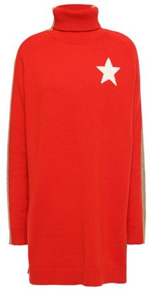 Bella Freud Intarsia Cashmere-blend Turtleneck Sweater