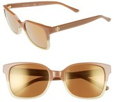 Tory Burch Women's 54Mm Retro Sunglasses - Light Brown